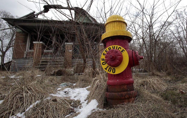 Over 35.000 bygninger står stadig tomme i Detroit.