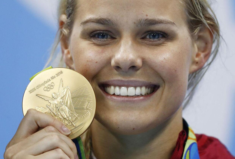 Pernille Blume vandt guld i 50 meter crawl ved OL 2016 i Rio de Janeiro.