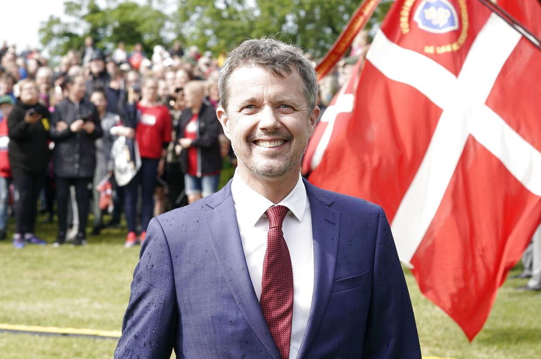 Kronprins Frederik ved fejringen af 800-året for Dannebrogs fald i Vordingborg.