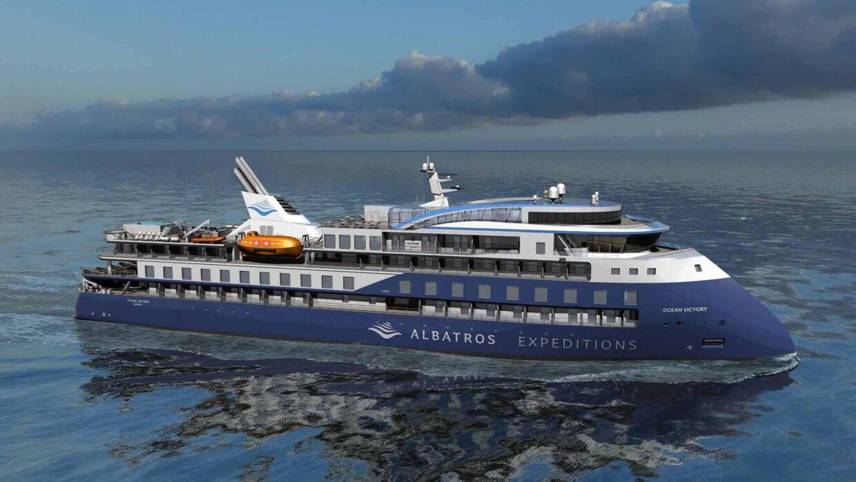Sådan kommer det miljøvenlige Ocean Victory til at se ud, når det søsættes til august 2020.