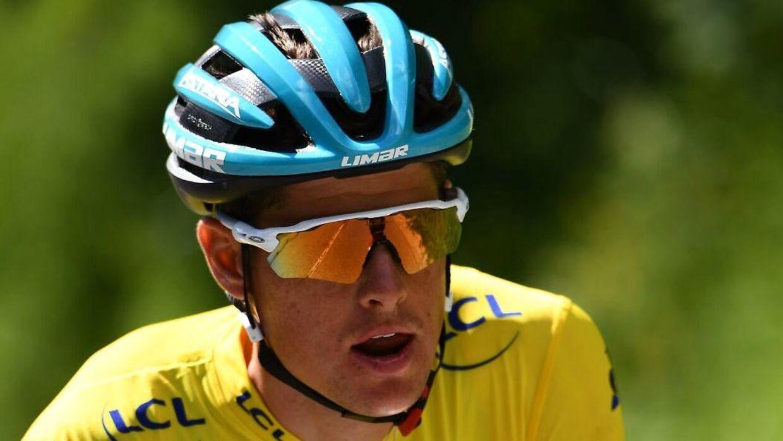 Jakob Fuglsang under finaledagen af Dauphiné.