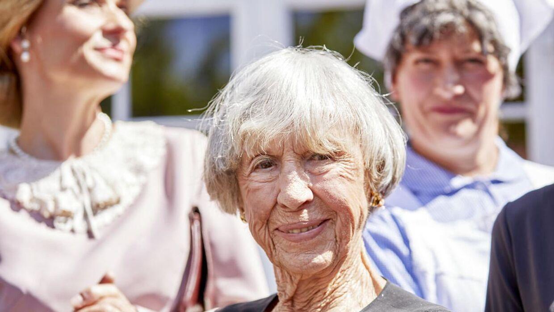 Forfatter Lise Nørgaard fejrede sin 102 års dag i Korsbæk på Bakken. 16. juni 2019.