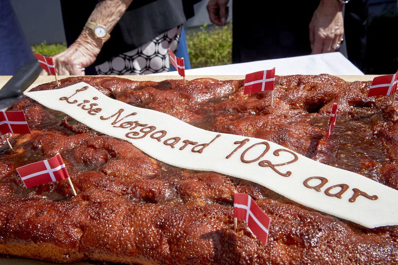 Forfatter Lise Nørgaard fejrede sin 102 års-dag i Korsbæk på Bakken