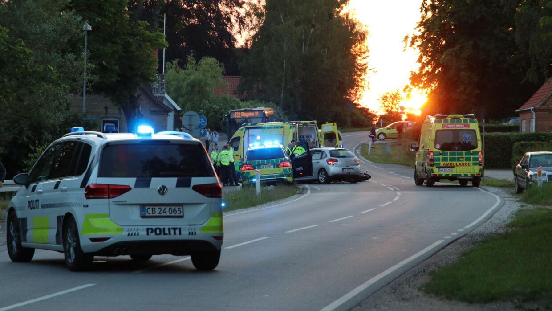 En trafikulykke fik mandag aften dødelig udgang.