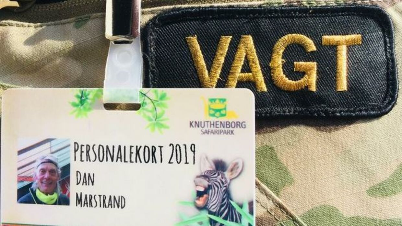 Dan Marstrands personalekort i Knuthenborg Safaripark.