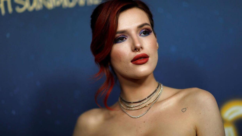 Her ses Bella Thorne i 2018. Hun har nu i kamp mod en hacker valgt at offentliggøre egne nøgenbilleder. REUTERS/Mario Anzuoni