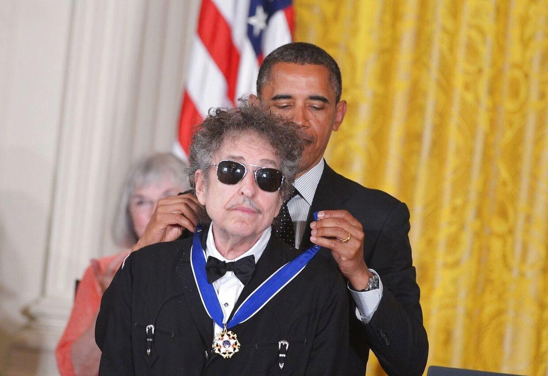 Bob Dylan fik i 2012 'presidential medal of freedom' af Barack Obama.