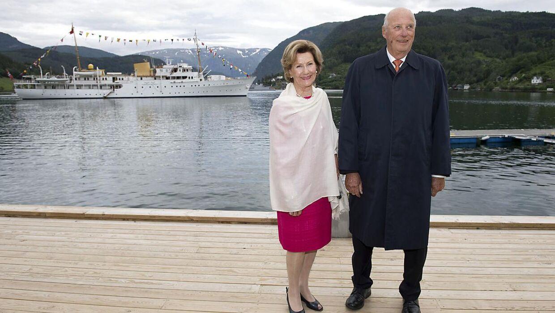 Dronning Sonja og kong Harald.