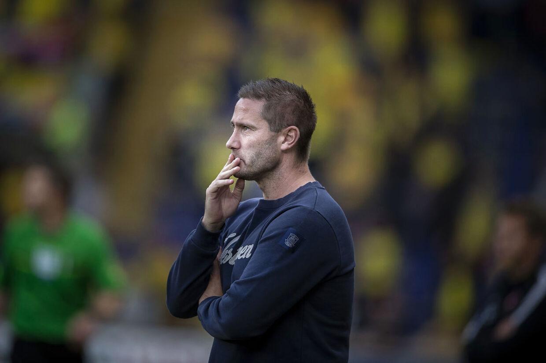 Brøndbys cheftræner Martin Retov under superligakampen mellem Brøndby-FC Midtjylland på Brøndby Stadion, mandag den 20. maj 2019. (Foto: Liselotte Sabroe/Ritzau Scanpix)