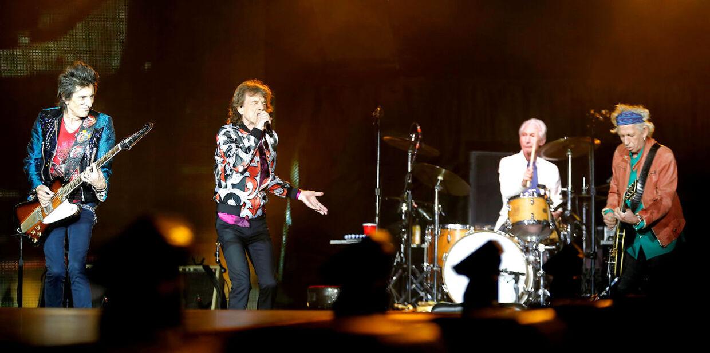 Rolling Stones på scenen i Frankrig.