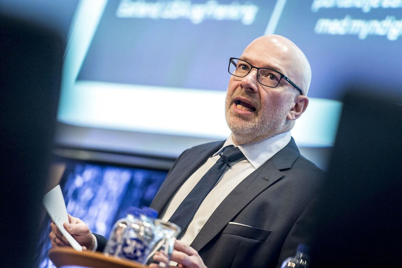 Jesper Nielsen var vikar på posten som Danske Banks administrerende direktør. Billedet her er fra fredag den 1. februar 2019. (Foto: Mads Claus Rasmussen/Ritzau Scanpix)