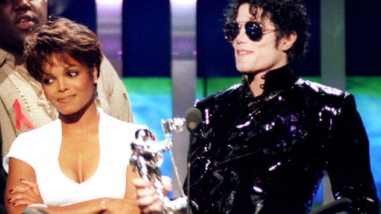 Janet Jackson og Michael Jackson da de i 1995 vinder en MTV Video Musiv Award for 'Best dance video'.