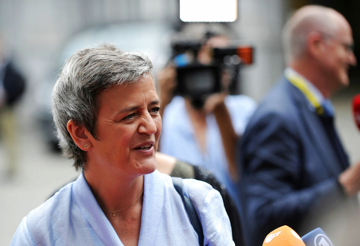 European Competition Commissioner Margrethe Vestager arrives at an ALDE party meeting ahead of a EU leaders summit in Brussels, Belgium, June 20, 2019. REUTERS/Johanna Geron NO RESALES.NO ARCHIVES.. (Foto: STRINGER/Ritzau Scanpix)