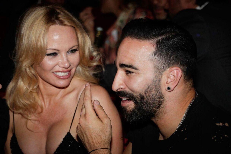 Pamela Anderson og Adil Rami.