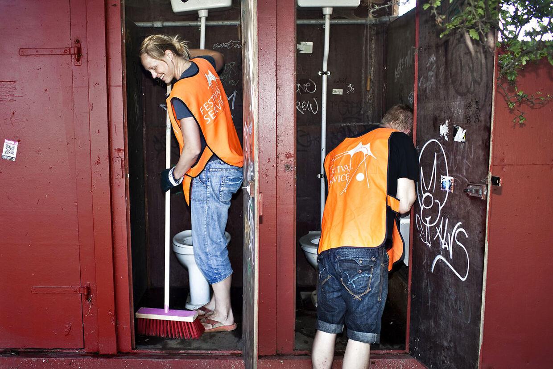Toiletrensere på Roskilde Festival.