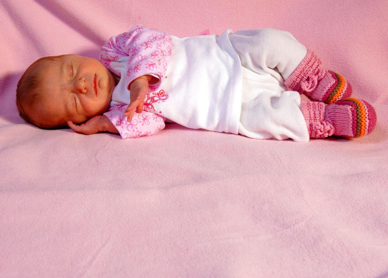 Nyfødt pige.