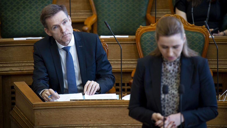 Kristian Thulesen Dahl (DF) ved møde i folketingssalen, som indledes med statsminister Lars Løkke Rasmussens (V) spørgetime, tirsdag den 26. marts 2019.