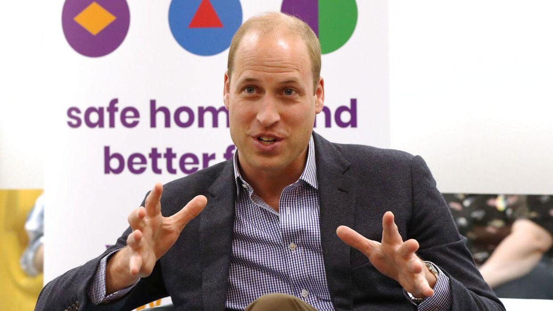 Her ses prins Willian ved Albert Kennedy Trust i London.