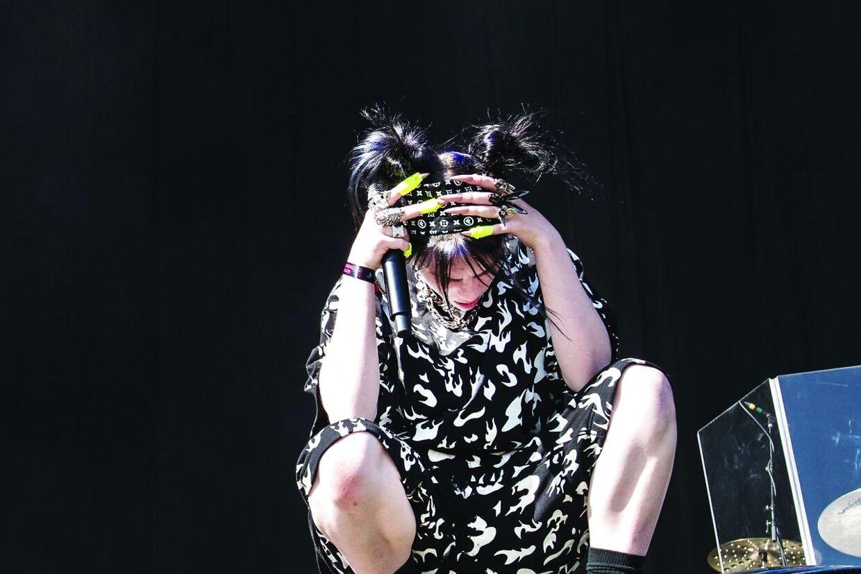På Rød Scene spiller verdensnavnet Billie Eilish da Tinderbox åbner festivalen torsdag den 27. juni 2019.. (Foto: Helle Arensbak/Ritzau Scanpix)
