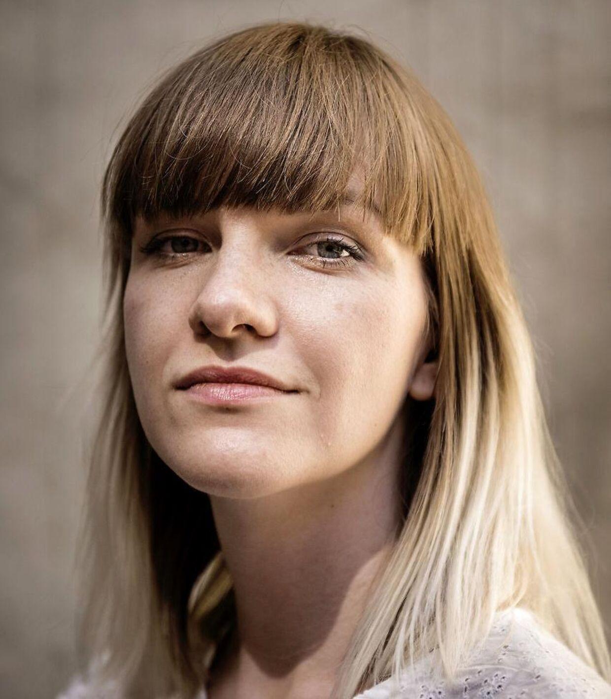 Aurelija Aniulyte, dansk talsperson for den højrenationalistiske bevægelse Generation Identitær.