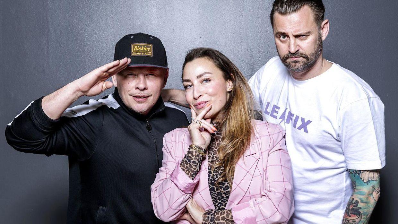 Den Gale Pose 2019. Med i gruppen er også DJ Static.