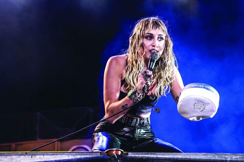 Verdensstjernen, Miley Cyrus, festede på Rød Scene omkring midnat på Tinderbox fredag den 28. juni 2019. BT og For Denmark only.. (Foto: Helle Arensbak/Ritzau Scanpix)