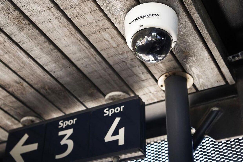 Et ud af i alt 12 overvågningskameraer på Korsør Station.