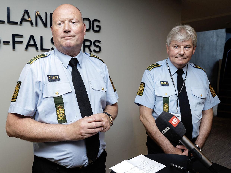 Politiinspeltør Kim Kliver og vicepolitiinspektør Søren Ravn-Nielsen havde i 2016 ansvaret for efterforskningen af den forsvundne teenager Emilie Meng. (Foto: Claus Bech/Ritzau Scanpix)