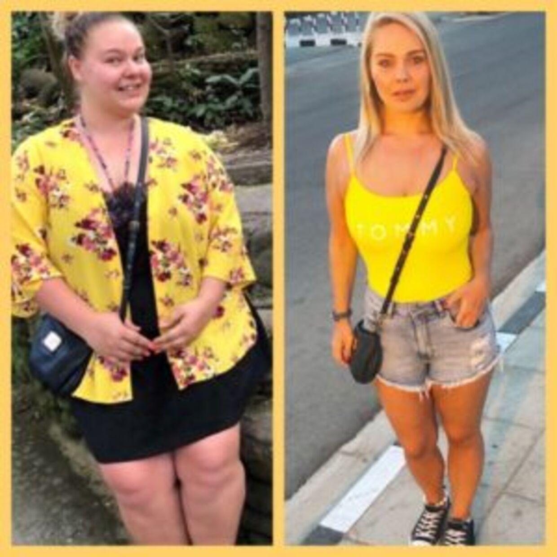 Christina Lykke har tabt sig 44 kilo siden dengang, hun var tungest