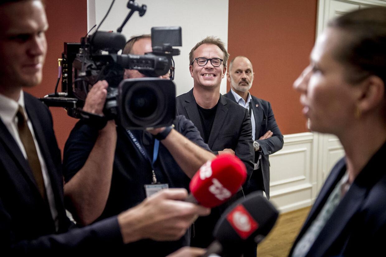 Arkiv: Martin Rossen, som man oftest ser ham på Christiansborg: Ganske få skridt fra Mette Frederiksen (S).