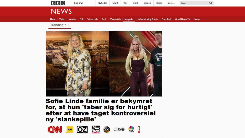 På hjemmesiden Moviecenter.Info ligger ovenstående reklame, der er forklædt som artikel. Foruden Sofie Lindes navn bliver også sangerinden Adeles og den britiske tv-læge Dr. Christians misbrugt i artiklen.