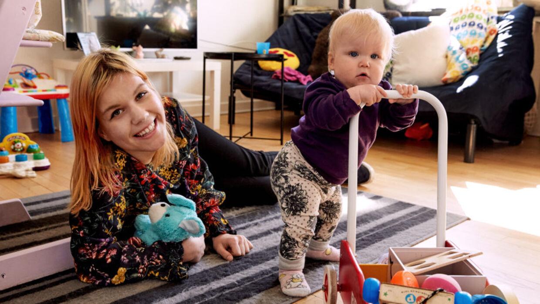 Sandra og datteren Mynthe (Foto: Krestine Havemann)