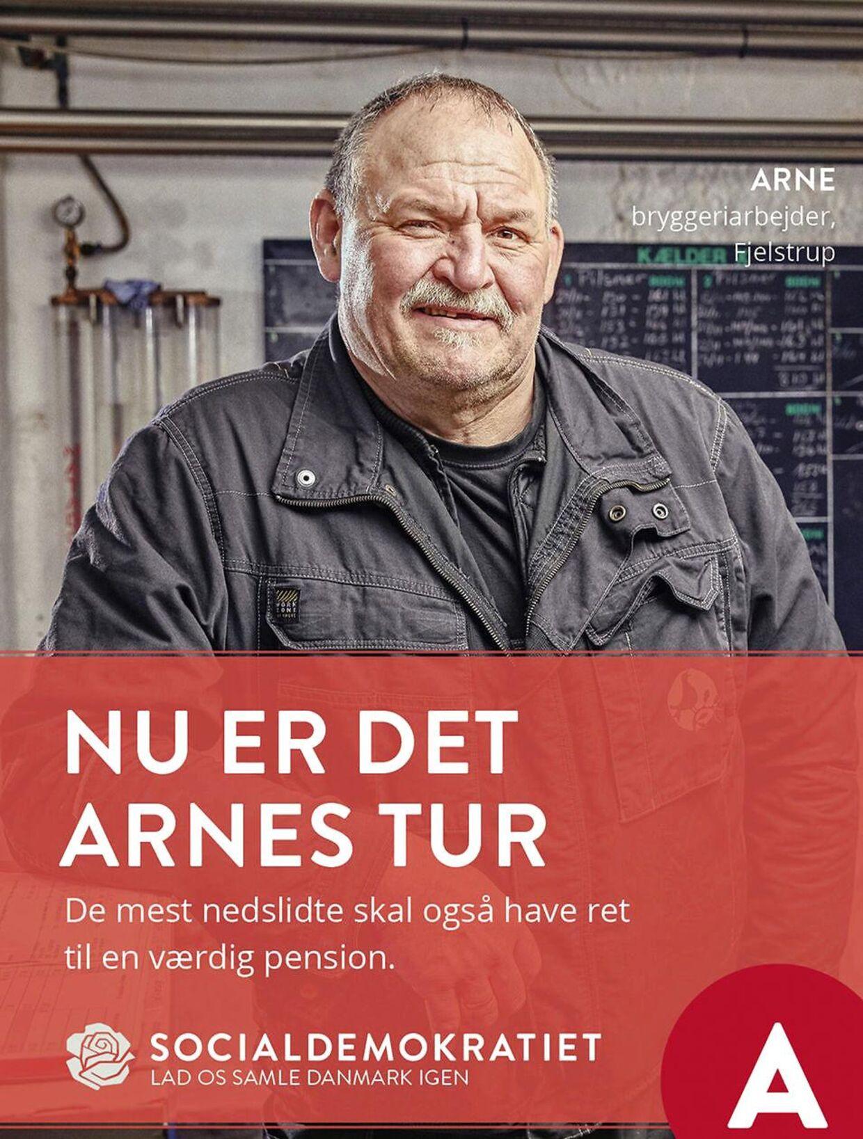'Nu er det Arnes tur' stod der på Socialdemokratiets valgplakater. Men Arne Juhl, som optrådte på valgplakaterne, var skuffet over, at tidlig tilbagetrækning fra arbejdsmarkedet ikke var en del af regeringsprogrammet.