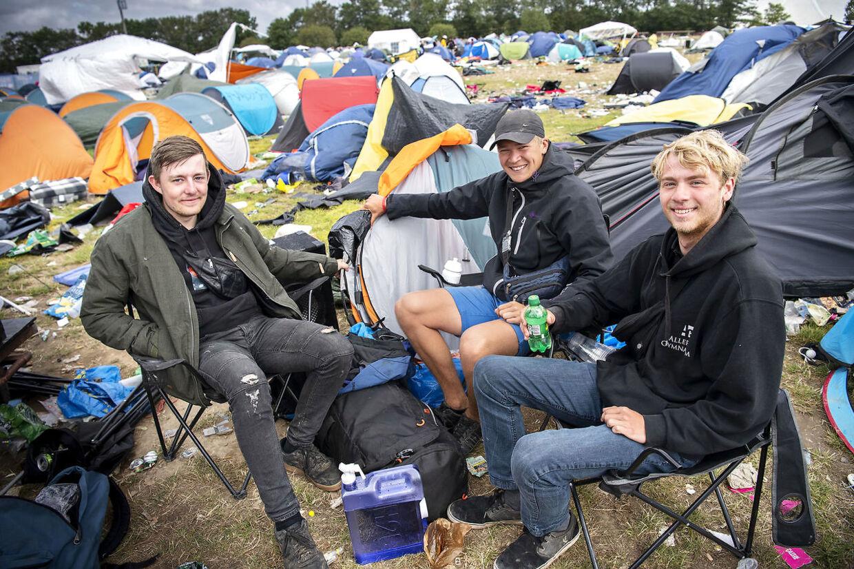Pelle Vedsmand, 21, Jonas Dalhoff, 20, og Malte Klingberg, 19.