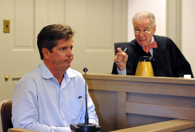 Faderen til Kevin Spaceys påståede offer, Nick Little, afhøres i Nantucket District Court, Massachusetts.