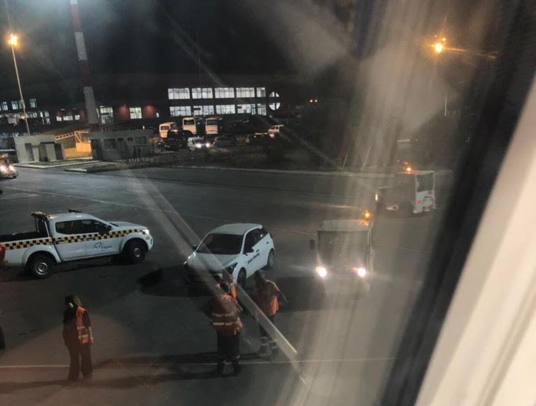Christian Hansen tog dette billede fra flyet - som han ikke nåede at være ombord på ret længe.