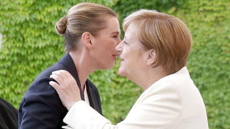 Merkel så ud til at have det godt, da hun torsdag gæstede Danmark.