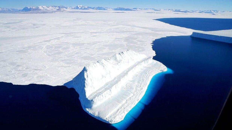 (Arkivfoto) Smeltende gletsjer kan give havniveaustigninger på op mod en halv meter. AFP PHOTO / NASA.