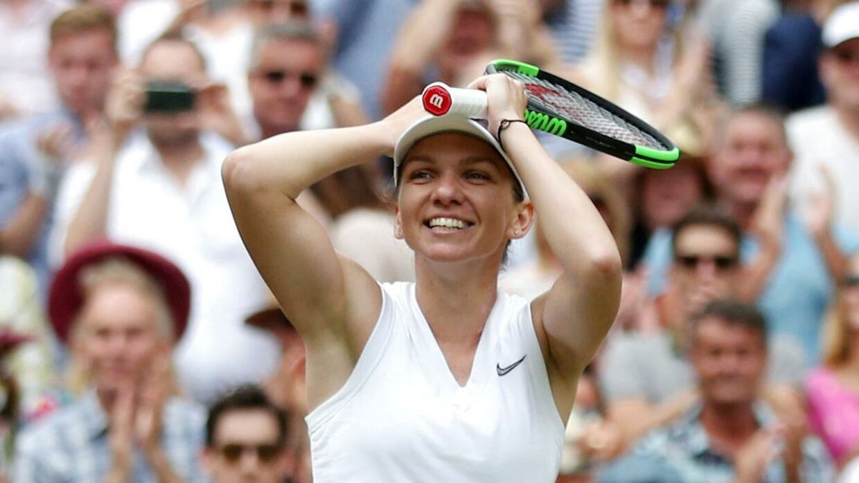 Simona Halep vinder Wimbledon-finalen over Serena Williams.