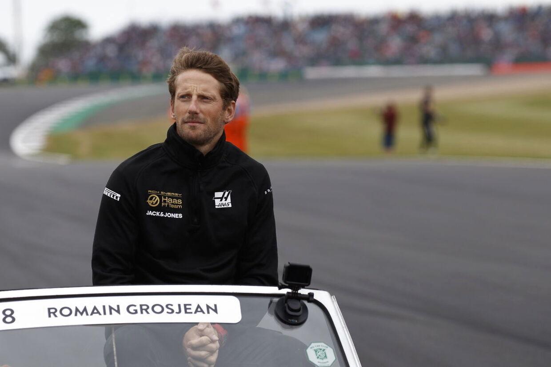 Romain Grosjean før søndagens grandprix.