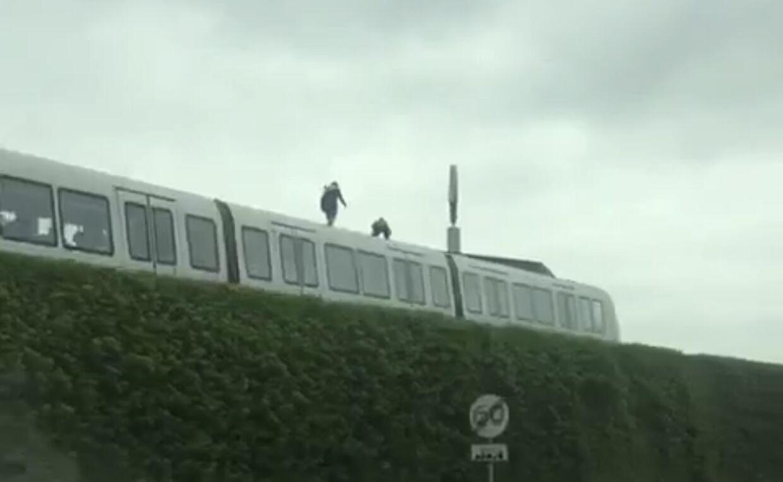 Metro Service tager stærkt afstand fra hændelsen, da hændelsen kunne være gået galt. Foto: Mathias Øgendal.