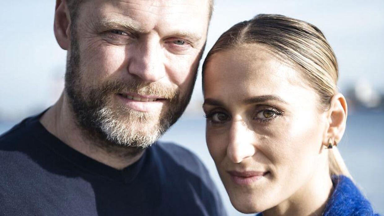Her ses Marijana Jankovic med sin medskuespille ri tv-serien Norskov, Jakob Ulrik Lohman. (Foto: Sarah Christine Nørgaard/Scanpix 2017)