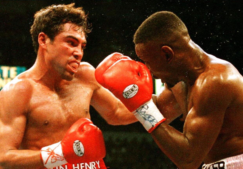 Pernell Whitaker i kamp mod Oscar De La Hoya (tv). Arkivfoto.
