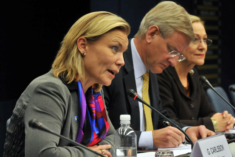 Gunilla Carlsson opfordrer til øget politisk fokus på kampen mod aids og hiv, selv om færre mennesker i dag dør af hiv-relaterede sygdomme. (Arkivfoto). Georges Gobet/Ritzau Scanpix