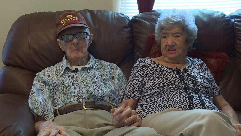 Herbert DeLaigle og Marilyn Frances DeLaigle mødte hinanden i 1947. Året efter blev de gift. Foto: CNN
