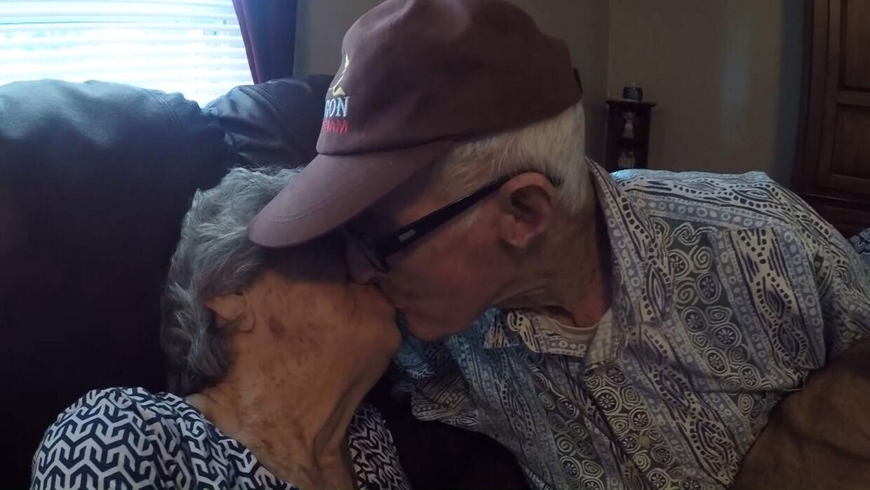 Parret blev interviewet i 2018 i forbindelse med deres 70-års bryllupsdag. Foto: CNN