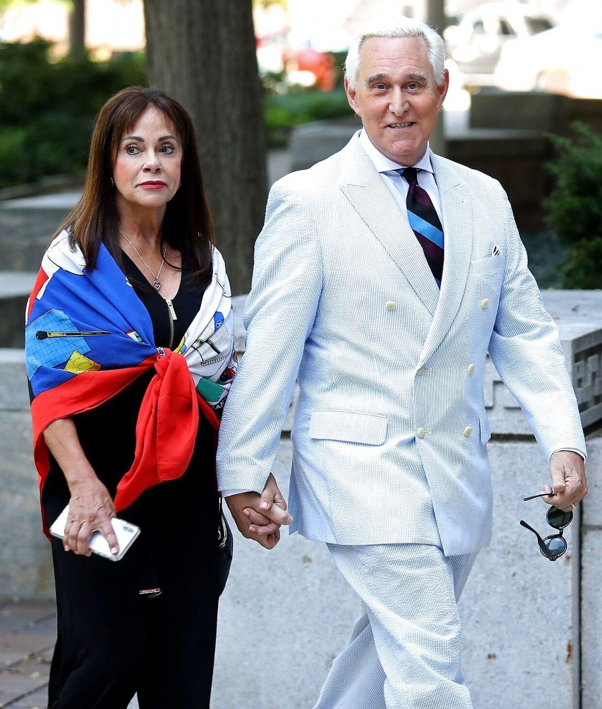Roger Stone sammen med sin kone, Nydia Stone.