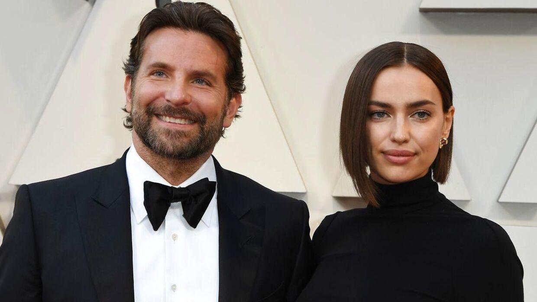 Bradley Cooper og Irina Shayk ankommer til Oscar-uddelingen i februar. (Foto: Scanpix)