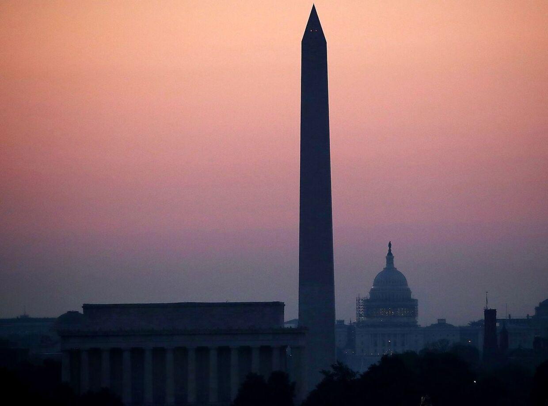Turisterne i Washington D.C. skal passe på. I weekenden overstiger temperaturen måske 43 grader.