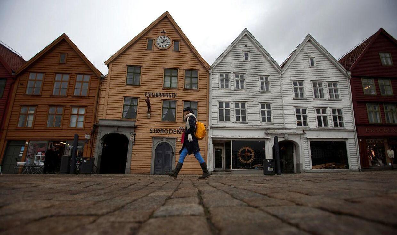 Bryggen i Bergen har problemer med det massive antal af turister, der kommer til hvert år.